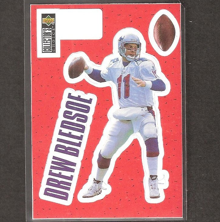 DREW BLEDSOE - 1996 Upper Deck Collector's Choice Stick-Um - Patriots & Washington State Cougars