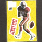 JERRY RICE - 1996 Upper Deck Collector's Choice Stick-Um - 49ers & Mississippi Valley State