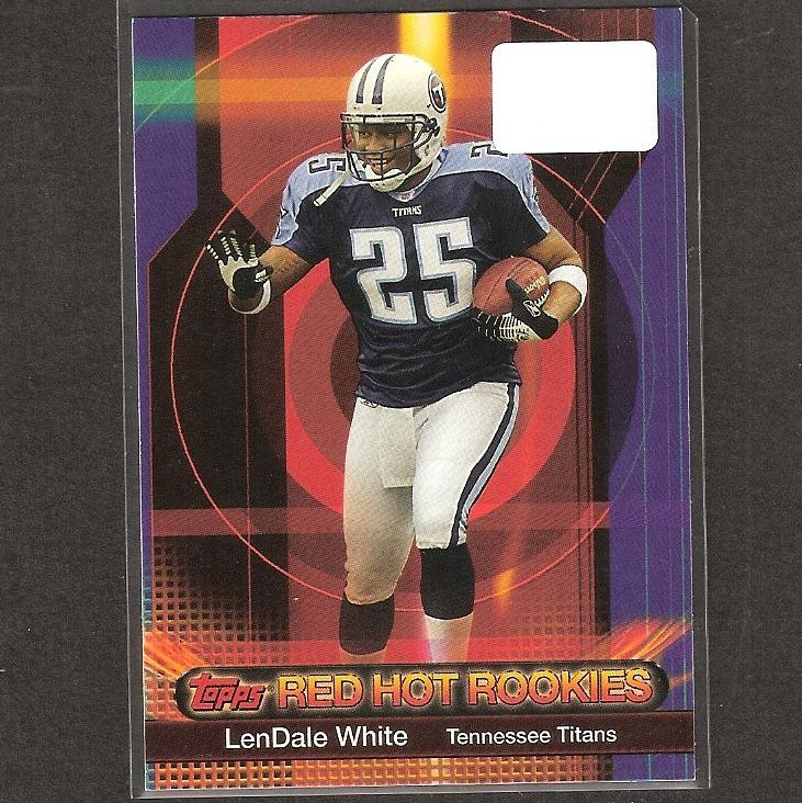 LenDALE WHITE - 2006 Topps Red Hot Rookies - Titans, Broncos & USC Trojans