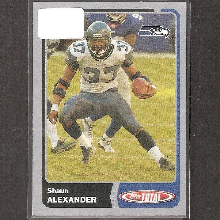 SHAUN ALEXANDER - 2003 Topps TOTAL Silver - Seahawks & Alabama Crimson Tide