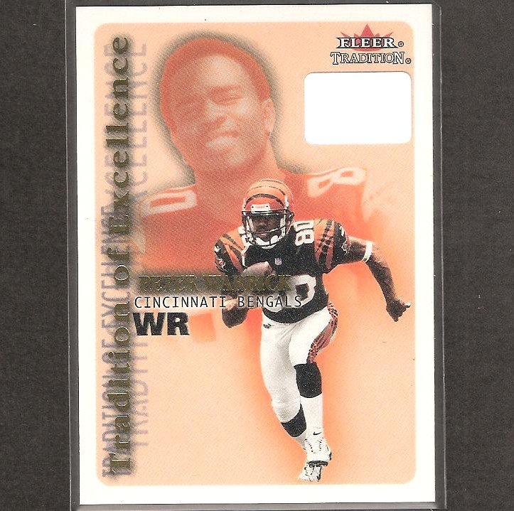 PETER WARRICK - 2000 Fleer Tradition of Excellence Rookie Card - Bengals & Florida State Seminoles