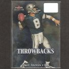 TROY AIKMAN - 2000 Fleer Tradition Throwbacks - Cowboys & UCLA Bruins