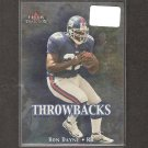 RON DAYNE - 2000 Fleer Tradition Throwbacks - NY Giants & Wisconsin Badgers