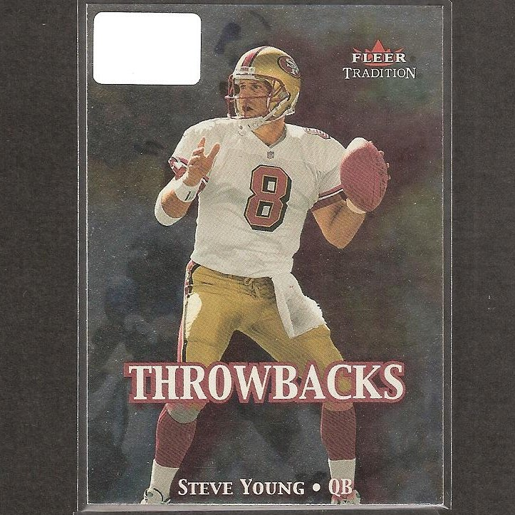 STEVE YOUNG - 2000 Fleer Tradition Throwbacks - 49ers & BYU