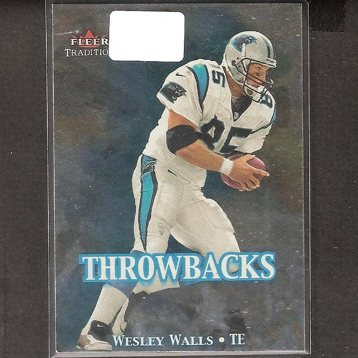 WESLEY WALLS - 2000 Fleer Tradition Throwbacks - Panthers & Ole Miss