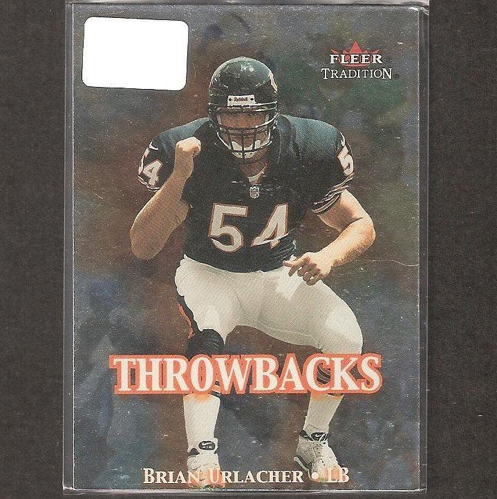 BRIAN URLACHER - 2000 Fleer Tradition Throwbacks Rookie - Chicago Bears & New Mexico Lobos