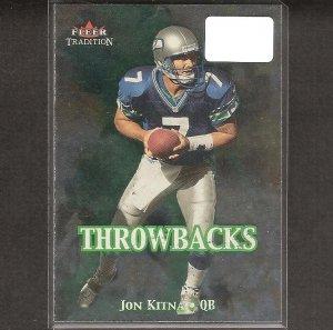 JON KITNA - 2000 Fleer Tradition Throwbacks - Seahawks, Cowboys & Central Washington