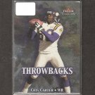 CRIS CARTER - 2000 Fleer Tradition Throwbacks - Vikings, Eagles & Ohio State Buckeyes