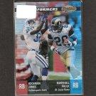 EDGERRIN JAMES & MARSHALL FAULK - 2001 Bowman's Best Performers - Colts & Rams