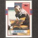 TIM WORLEY - 1989 Topps Traded ROOKIE Card - Steelers & Georgia Bulldogs