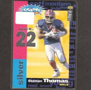 THURMAN THOMAS 1995 Collector's Choice Crash the Game Silver - Bills & Oklahoma State Cowboys