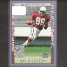 DAVID BOSTON - 1999 Topps Season Opener Rookie Card - Arizona Cardinals & Ohio State Buckeyes