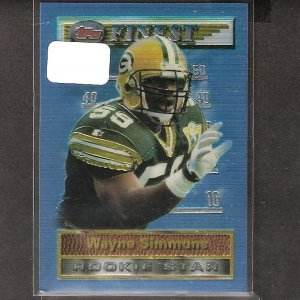 WAYNE SIMMONS 1994 Topps Finest Rookie Card - Packers & Clemson Tigers
