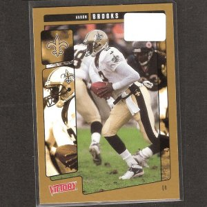 AARON BROOKS 2001 Victory Gold Parallel - Saints & Virginia Cavaliers