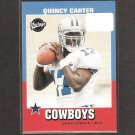QUINCEY CARTER 2001 Bazooka Rookie Card RC - Dallas Cowboys & Georgia Bulldogs