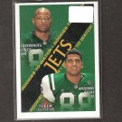 LAVERANUES COLES & ANTHONY BECHT - 2000 Fleer Tradition RC - NY Jets & Mountaineers & Seminoles