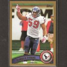 DeMECO RYANS - 2011 Topps Gold Parallel - Houston Texans & Alabama Crimson Tide