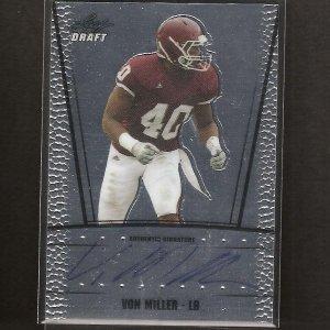 VON MILLER - 2011 Leaf Metal Draft Autograph ROOKIE - Denver Broncos & Texas A&M Aggies