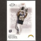 VINCENT BROWN 2011 Topps Legends Rookie Card RC - San Deigo Chargers & San Diego State Aztecs
