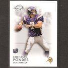 CHRISTIAN PONDER 2011 Topps Legends Rookie Card RC - Minnesota Vikings & Florida State Seminoles