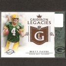 BRETT FAVRE 2011 Topps Legends Gridiron Legacies - Packers & Southern Miss