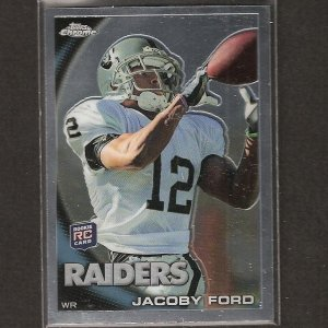 JACOBY FORD 2010 Topps Chrome Rookie RC - Raiders & Clemson Tigers