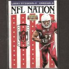 LARRY FITZGERALD 2011 Panini Gridiron Gear NFL Nation - Cardinals & Pitt Panthers