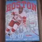 2006-07 Boston University Terriers NCAA PROGRAM - BU Hockey, Gilroy, Yip, Curry, Strait