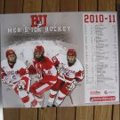 2010-11 NCAA Hockey Boston University Terriers SCHEDULE POSTER - Connolly, Pereira, Warsofsky