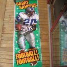 1996 BARRY SANDERS Lifesize POSTER Detroit Lions - Little Caesars PROMO ONLY
