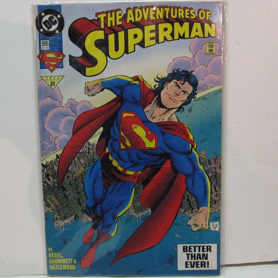The ADVENTURES of SUPERMAN Comic Book  #505 - DC Comics