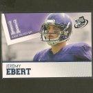 JEREMY EBERT - 2012 Press Pass BLUE RC - Patroits & Northwestern