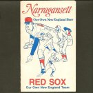 BOSTON RED SOX 1975 Narragansett Beer Pocket Schedule