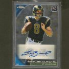 SAM BRADFORD 2010 Topps Chrome Autograph Rookie Card RC - Eagles, Rams & Oklahoma Sooners