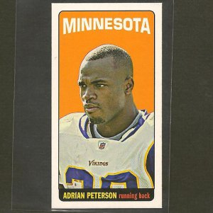 ADRIAN PETERSON 2012 Topps Tall Boy - Vikings & Oklahoma Sooners