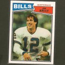 JIM KELLY 2012 Topps Rookie REPRINT - Buffalo Bills & Miami Hurricanes
