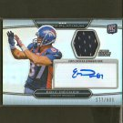 ERIC DECKER 2010 Topps Platinum Autograph Jersey Relic RC - NY Jets & Minnesota Gophers