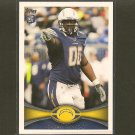 KENDALL REYES 2012 Topps Rookie Card RC - Chargers & UConn Huskies