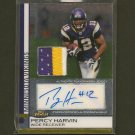 PERCY HARVIN - 2009 Topps Finest Autograph ROOKIE 3 Color Patch/Relic - NY Jets & Florida Gators