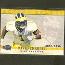DAVID TERRELL - 2001 Pacific Invincible School Colors- Chicago Bears & Michigan Wolverines