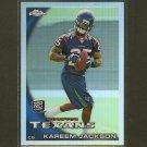 KAREEM JACKSON 2010 Topps Chrome Refractor RC -  Texans & Alabama Crinmson TIde