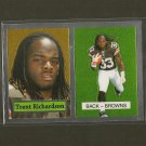 TRENT RICHARDSON 2012 Topps Chrome 1957 Retro Rookie Card RC - Browns & Alabama Crimson Tide