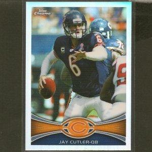 JAY CUTLER 2012 Topps Chrome Refractor - Chicago Bears & Vanderbilt