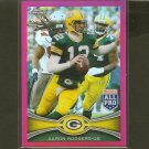 AARON RODGERS - 2012 Topps Chrome Pink Refractor Breast Cancer - Packers & Cal Golden Bears