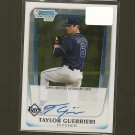 TAYLOR GUERRIERI - 2012 Bowman Chrome Autograph RC - Tampa Bay Rays