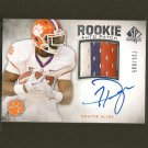 DWAYNE ALLEN 2012 SP Authentic - Autograph 3-Color Relic RC - Colts & Clemson Tigers