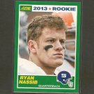 RYAN NASSIB 2013 Score Rookie Card - NY Giants & Syracuse Orange