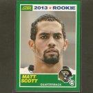 MATT SCOTT 2013 Score Rookie Card - Jaguars & Arizona Wildcats