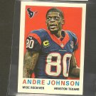 2013 Topps ANDRE JOHNSON 1959 Mini - Texans & Miami Hurricanes