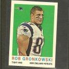 2013 Topps ROB GRONKOWSKI 1959 Mini - Patriots & Arizona Wildcats